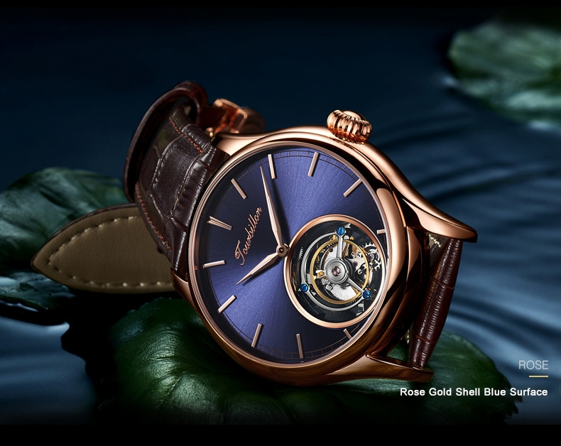 Real Sapphire Tourbillon Mens Wrist Watch - Gifts For Him Under $5,000