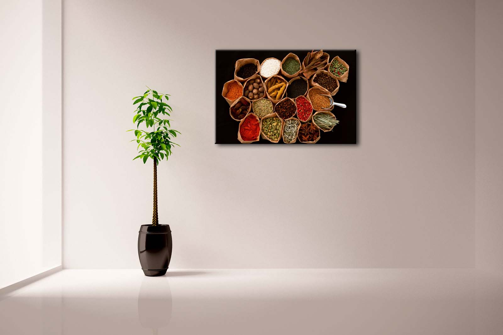 Herbs & Spices Framed Canvas Painting - Canvas Paintings Under $100
