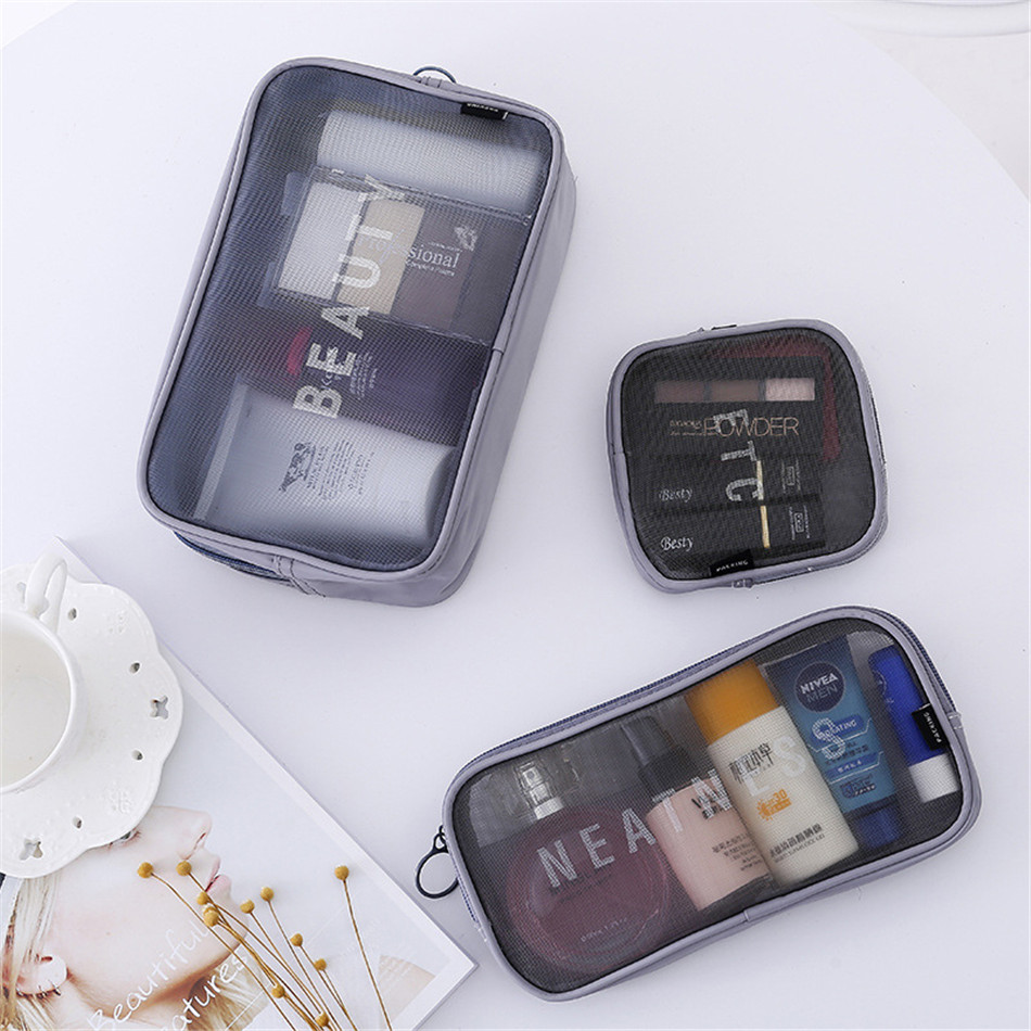 makeup bag transparent travel