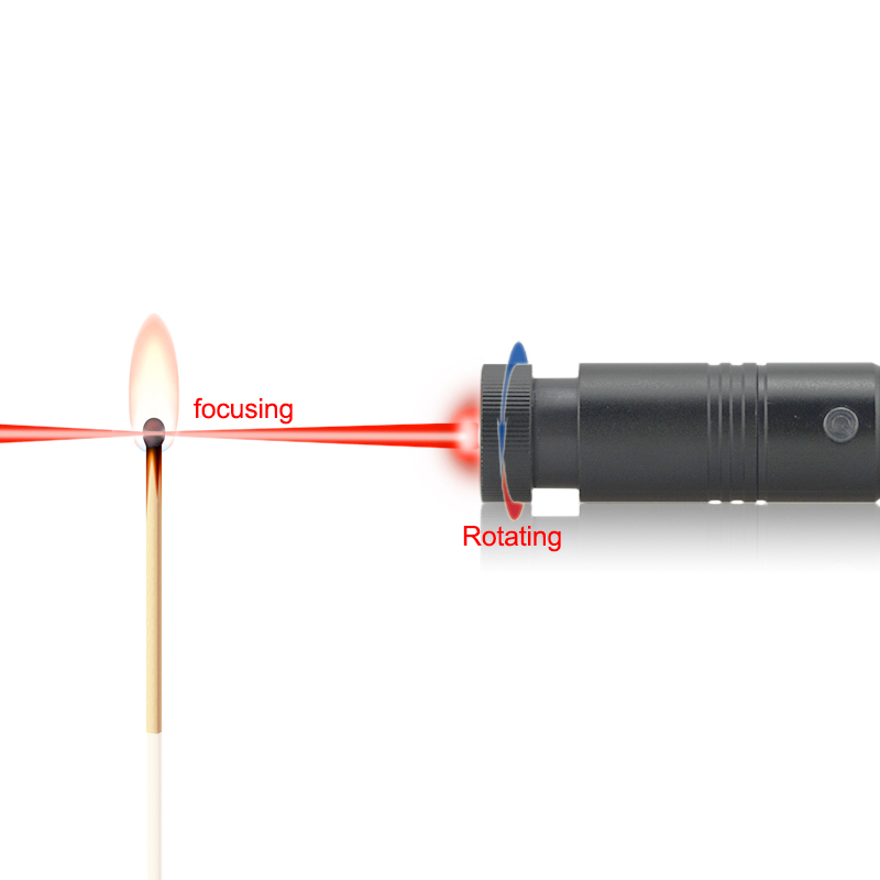 laser pointer lighting match. laser pointer starts fires