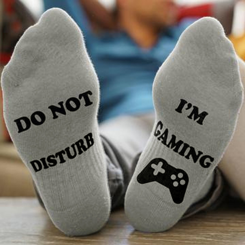 Do Not Disturb Gamer High Male Socks - novariancreations.com