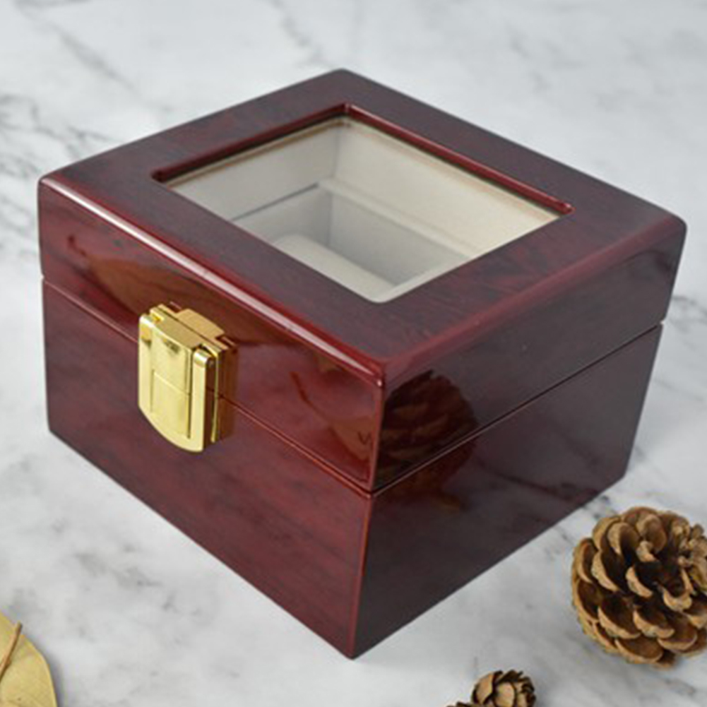 Dust-proof Clear Glass Watch Box - novariancreations.com