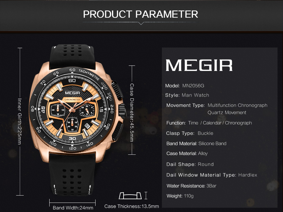 Mens Chronograph Sport Watches