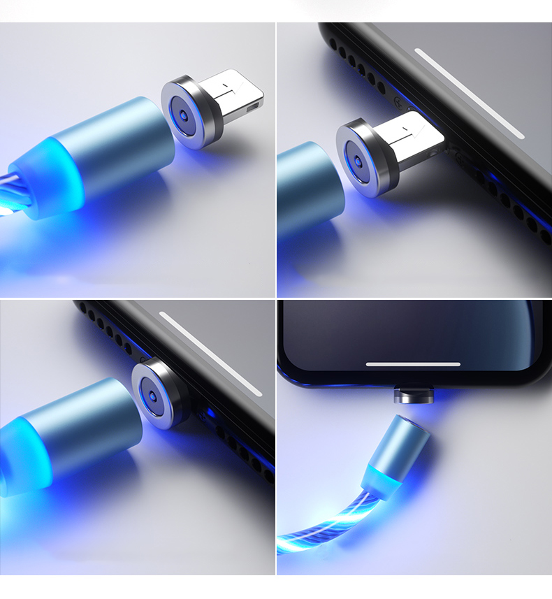 light up iphone charging cable - Laviemate
