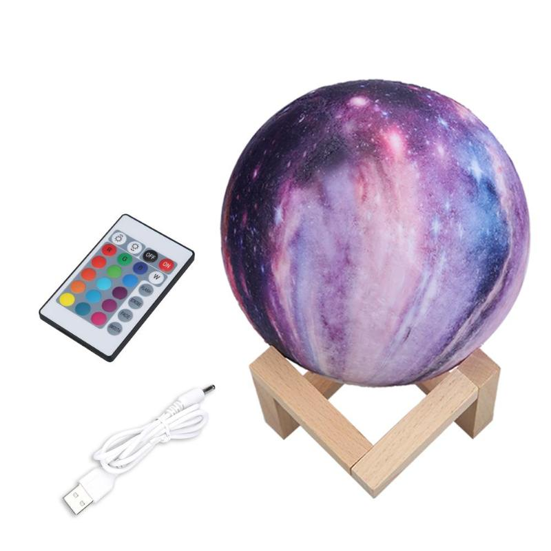 Star Galaxy 3D Moon Lamp - Lamps & Lighting