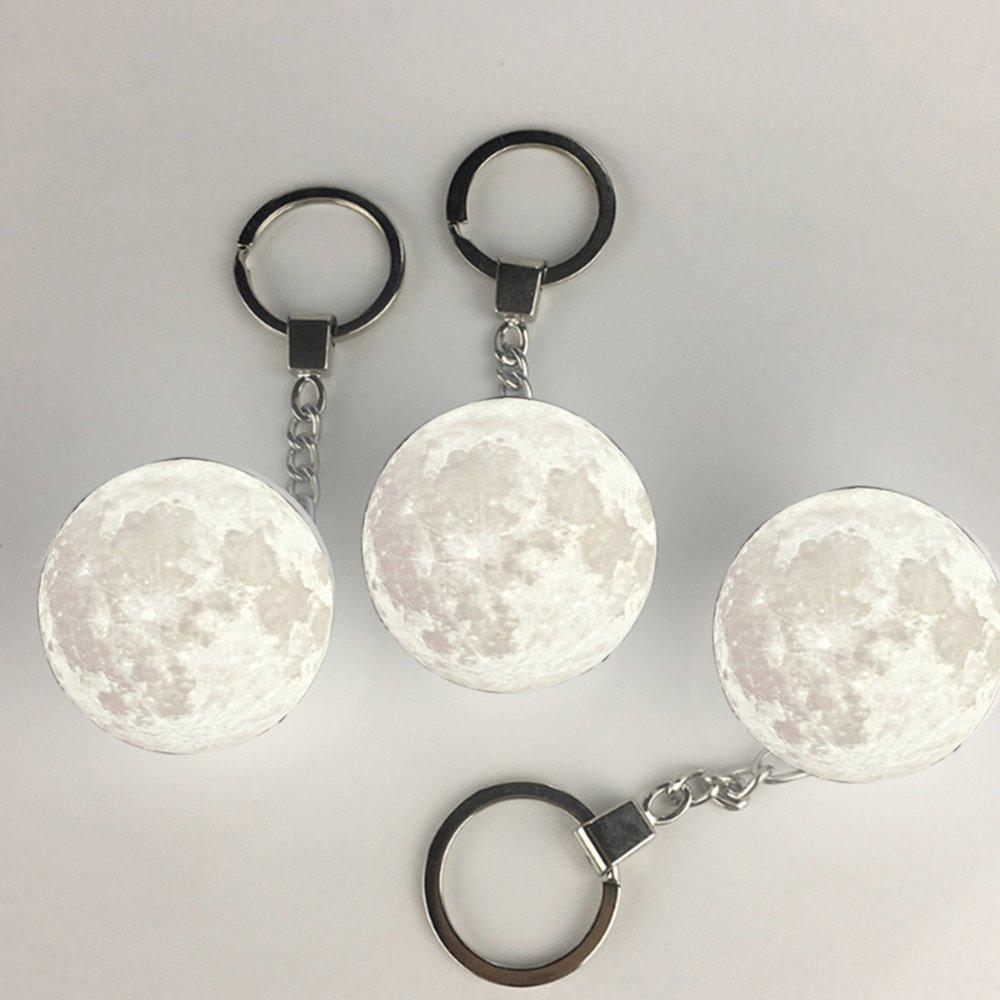 3D Moon Light Keychain - novariancreations.com