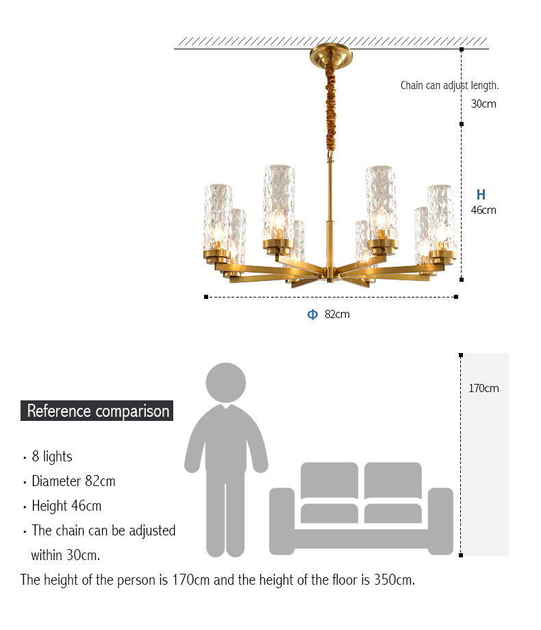 Forged Golden Glass Modern Ceiling Lamp - Lamps & Lighting