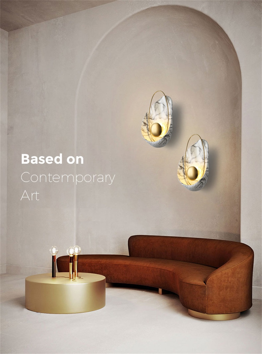 Nordic Copper Modern Wall Lamp - Lamps & Lighting