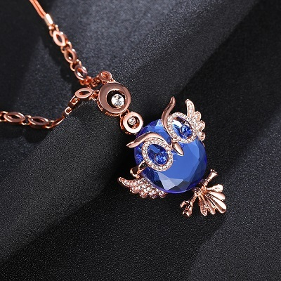 Love Owl Crystal Necklaces/3 Colors - Trendy21Store