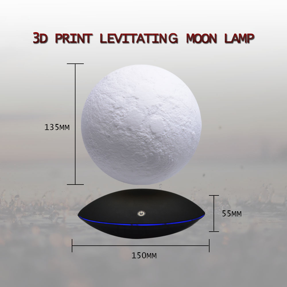 Magnetic Levitating 3D Printed Moon Lamp - Lamps & Lighting
