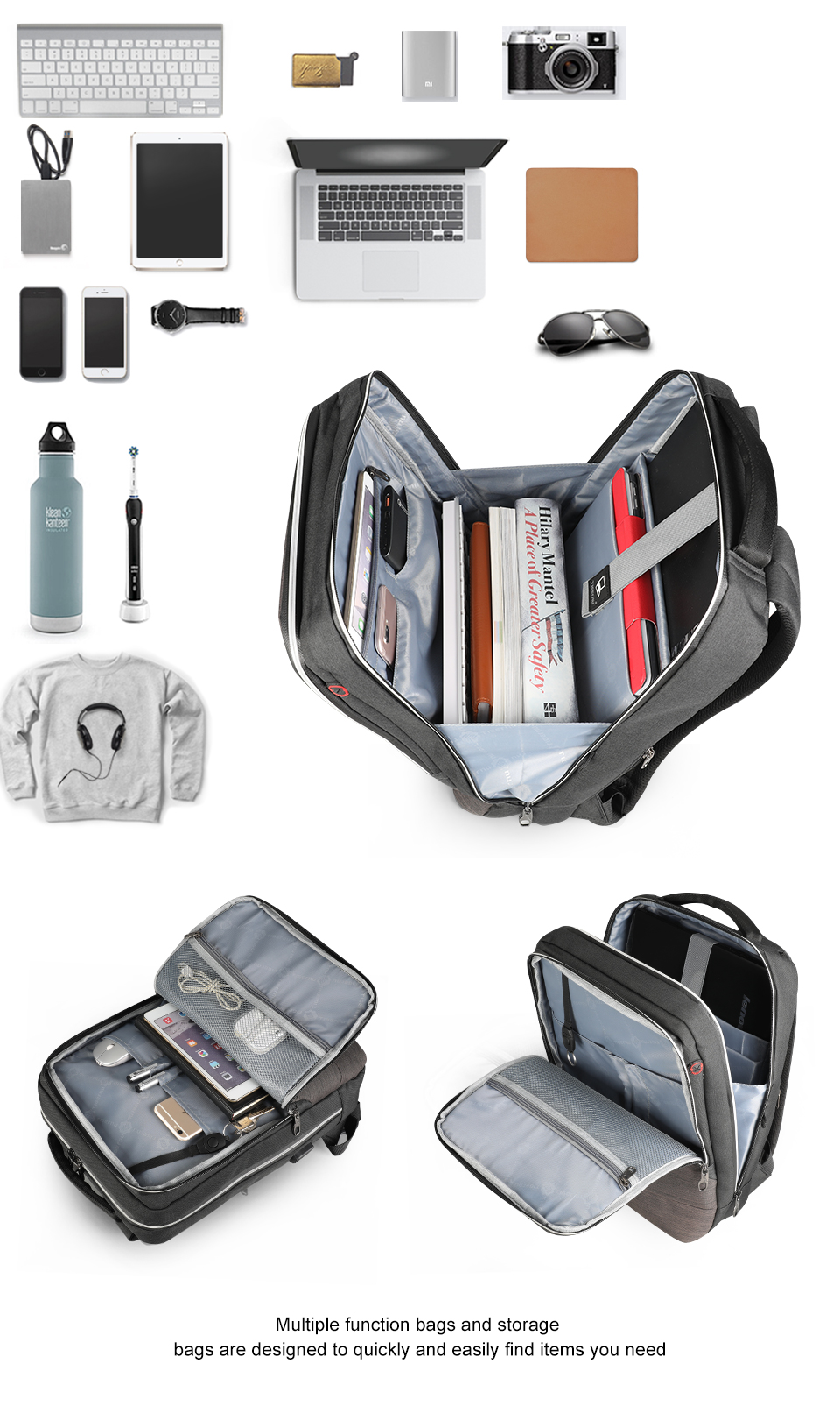 4.0A USB Quick Charge Anti Theft Backpack