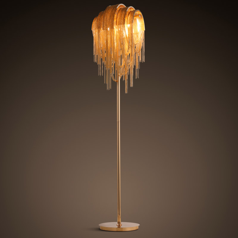 Personalized Chain Tassel Floor Lamp - Lamps & Lighting