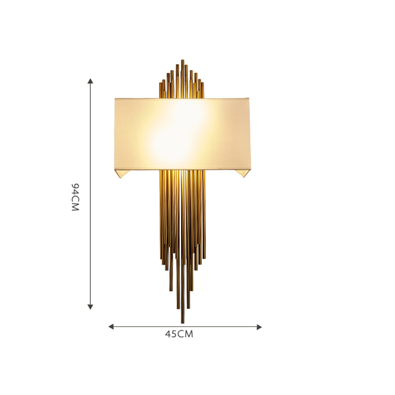 Gold Scone Pipe Modern Wall Lamp - Lamps & Lighting