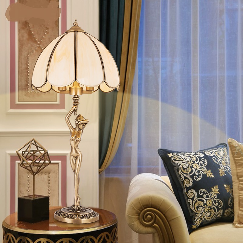 Luxury European Pure Copper Table Lamp - Lamps & Lighting