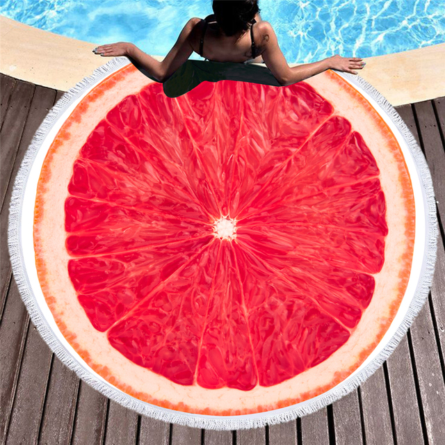 3D Printed fruit Round Beach Towels - Trendy21Store