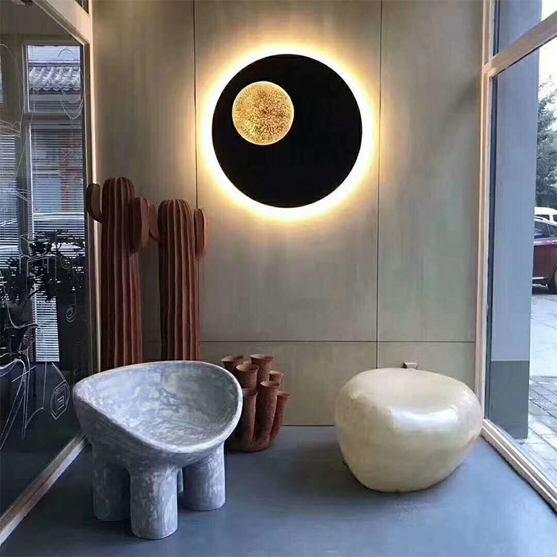 Iron Sconce Moon Wall Lamp - Lamps & Lighting