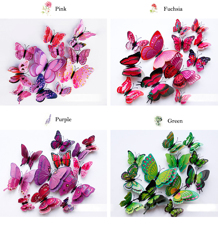 3d vivid butterfly wall sticker - LaViemate