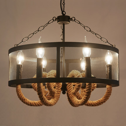Wire Mesh Iron Rope Loft Ceiling Lamp - Lamps & Lighting