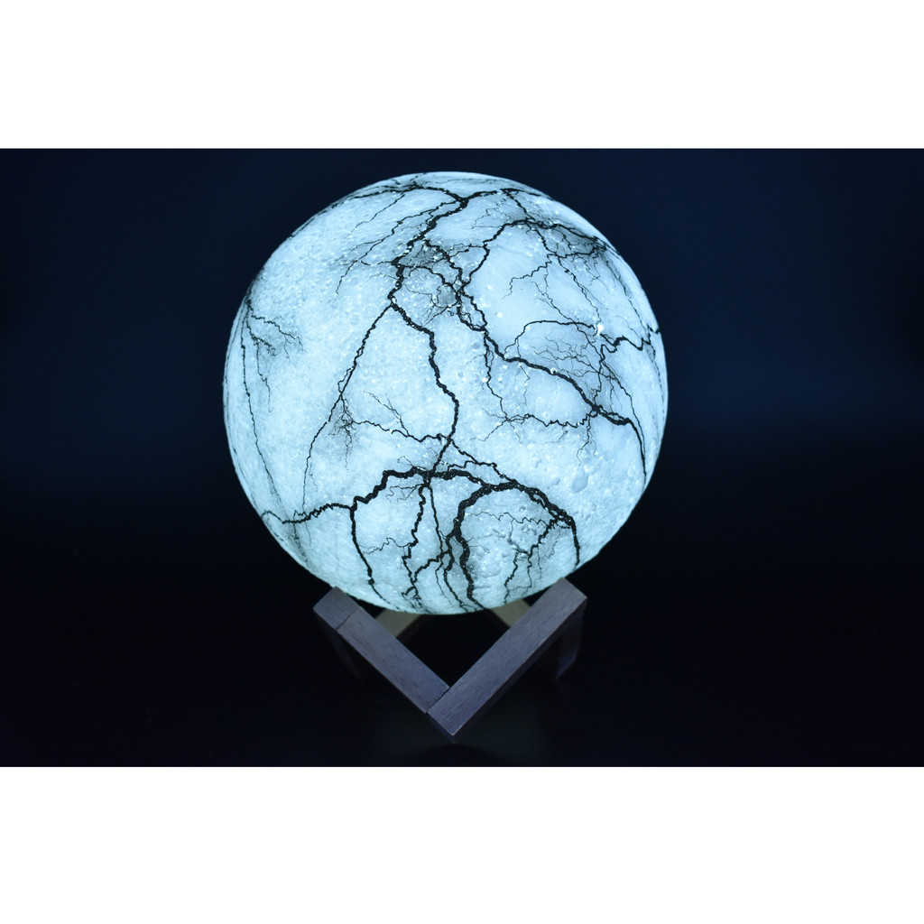 Lightning Bolt 3D Moon Lamp - Lamps & Lighting