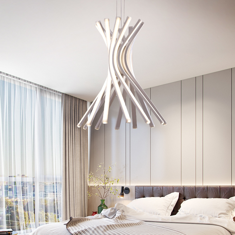 White Silica Warped Ceiling Lamp - Ceiling Lamps