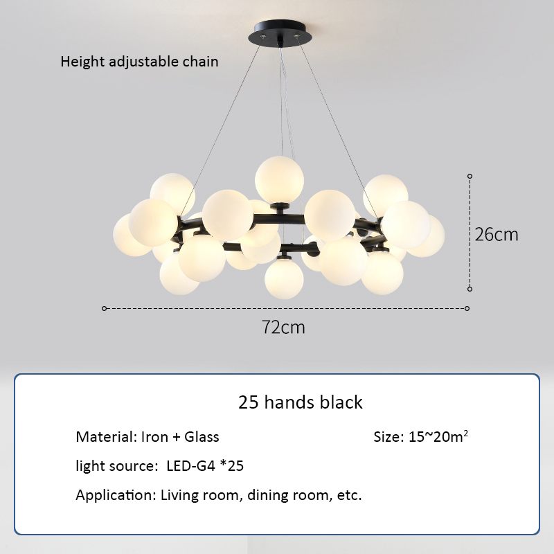 Designer Glass Ball Pendant Ceiling Lamp - Lamps & Lighting