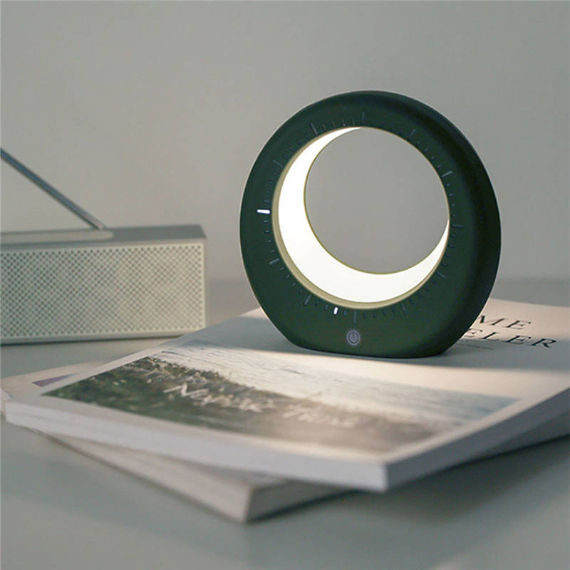 Bedside Clock Moon Lamp Night Light - Lamps & Lighting
