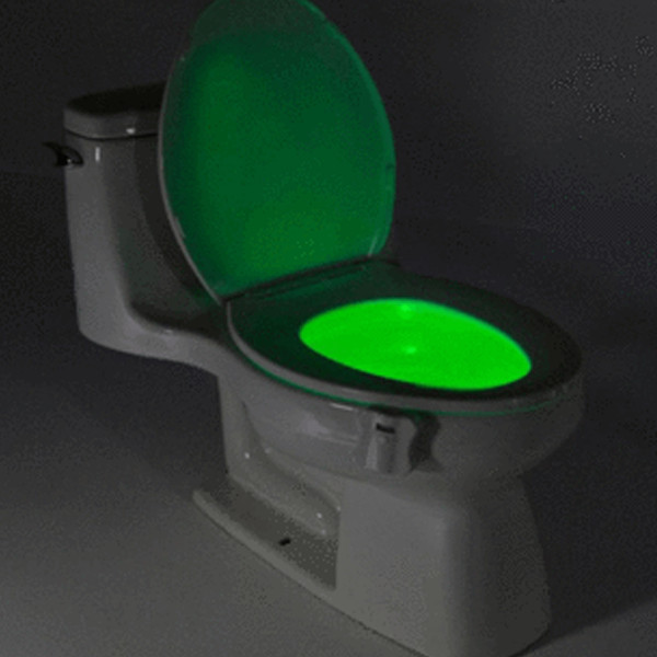 8-color LED motion sensor toilet bowl light - clips onto the rim of the bowl to keep you peeing straight in the darkest hours of the night